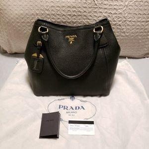 111d8c647ffb Prada Vitallo Daino Leather Hand / Shoulder Bag